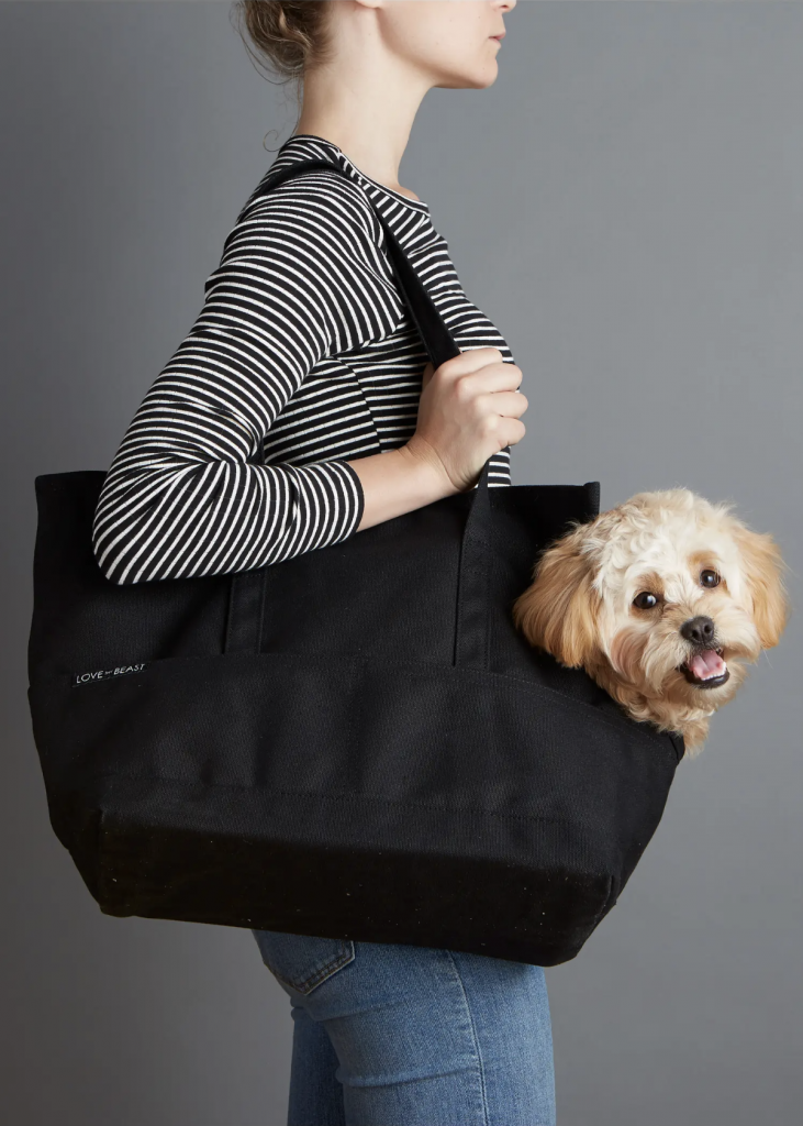 'Love Thy Beast Waxed Canvas Pet Tote Carrier' via Nordstrom