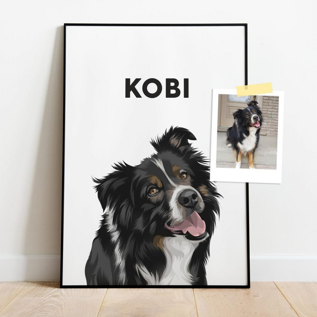 30 Cute Mother's Day Gifts From The Dog feat. Custom Pet Portrait (via Petoodle - Etsy)