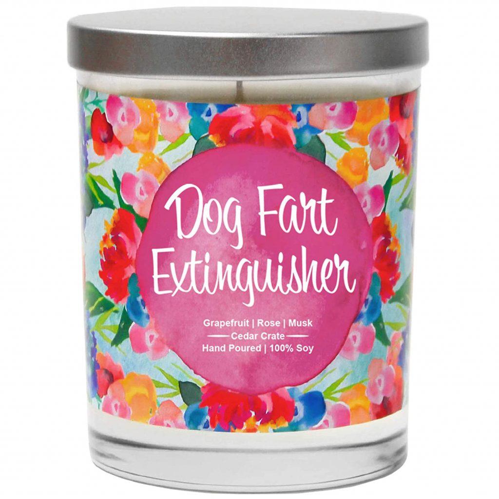 Funny 'Dog Fart Extinguisher' Candle (Amazon)