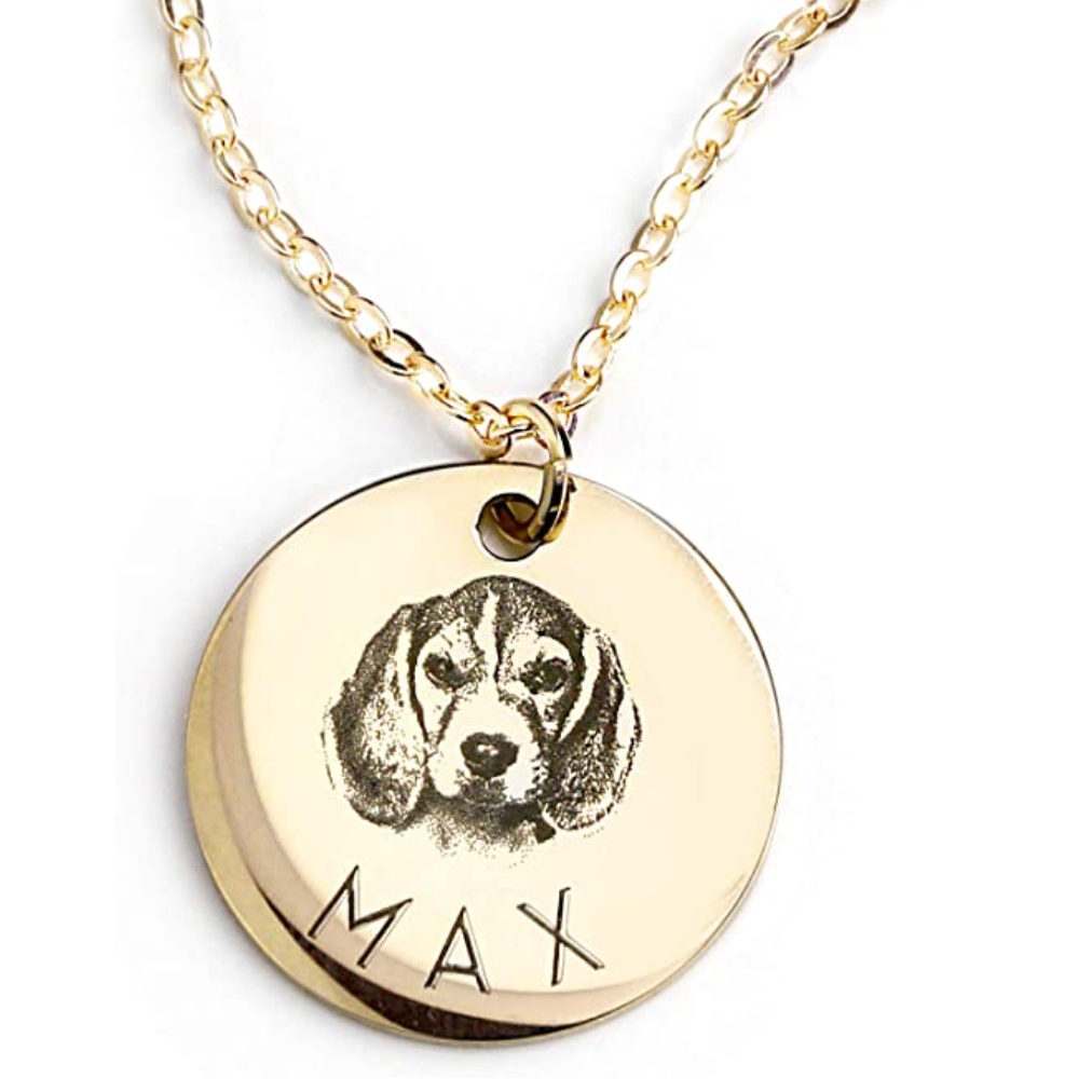 30 Cute Mother's Day Gifts From The Dog feat. Personalized Pet Necklace (via Amazon)