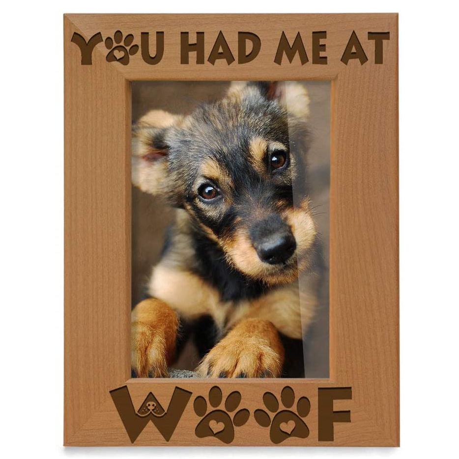 'You Had Me At Woof' Photo Frame (Amazon)