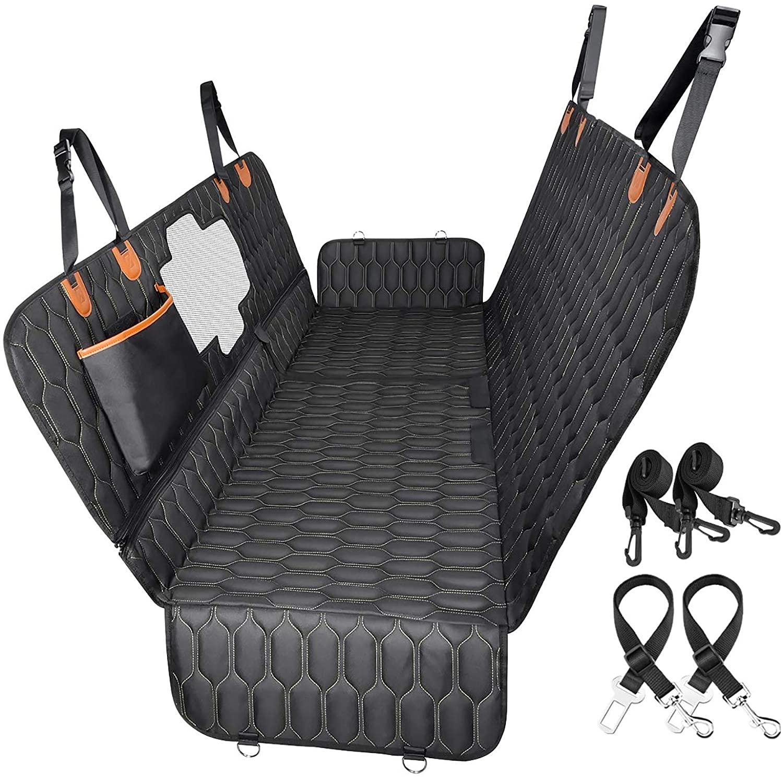 Best Value Car Hammock for Dogs - OKMEE Convertible 4-in-1 Car Seat Cover Dog Hammock via Amazon