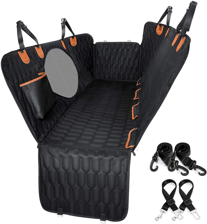 Runner-up Best Value Car Hammock for Dogs - OKMEE Waterproof Car Seat Cover Dog Hammock via Amazon