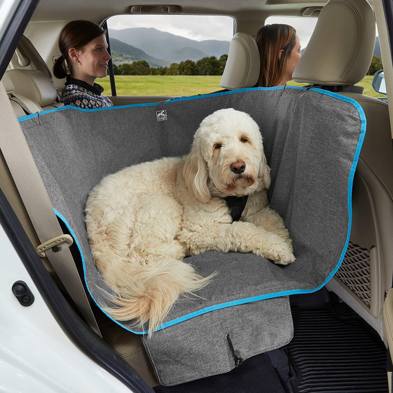 Best Half-size Car Hammock for Dogs - KURGO Half-Seat Dog Hammock Car Seat Cover via Amazon
