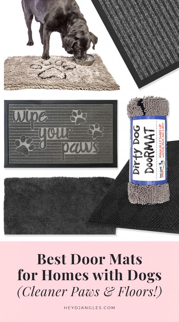 Best Door Mats for Dogs - feat. The Original Dirty Dog Door Mat, Gorilla Grip, Notrax, Furhaven and WaterHog door mats. How to keep a clean home with dogs.