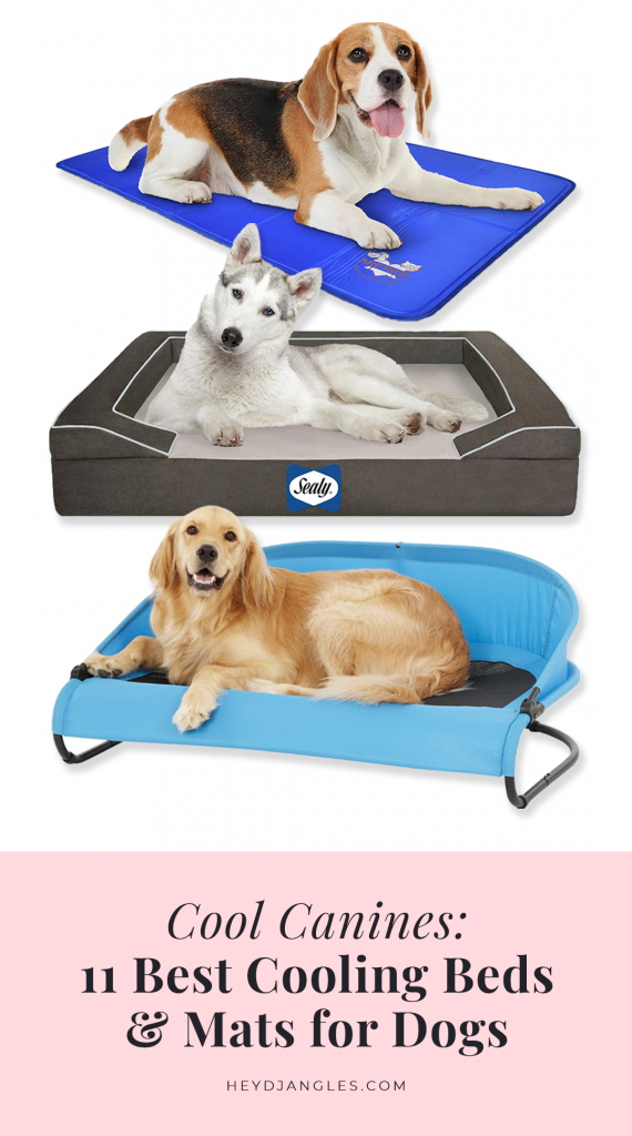 Best Cooling Beds and Mats for Dogs - Hey, Djangles. feat. brands such as Furhaven, Arf Pets, K&H Pet Products, The Green Pet Shop, Sealy and more.