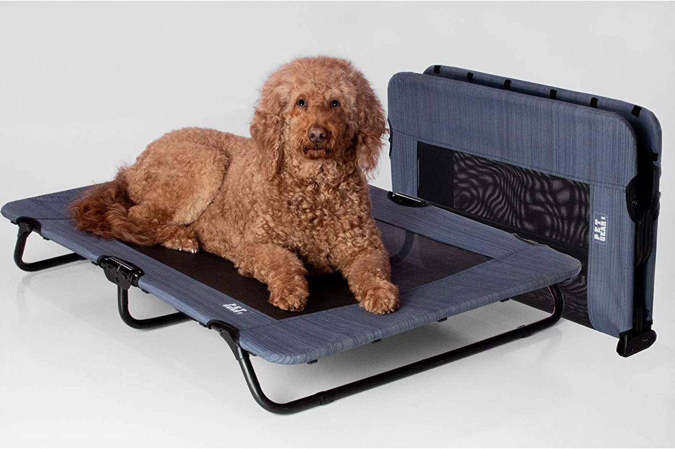 PET GEAR LIFESTYLE Portable Pet Cot Elevated Dog Bed, image via Pet Gear Lifestyle/Amazon