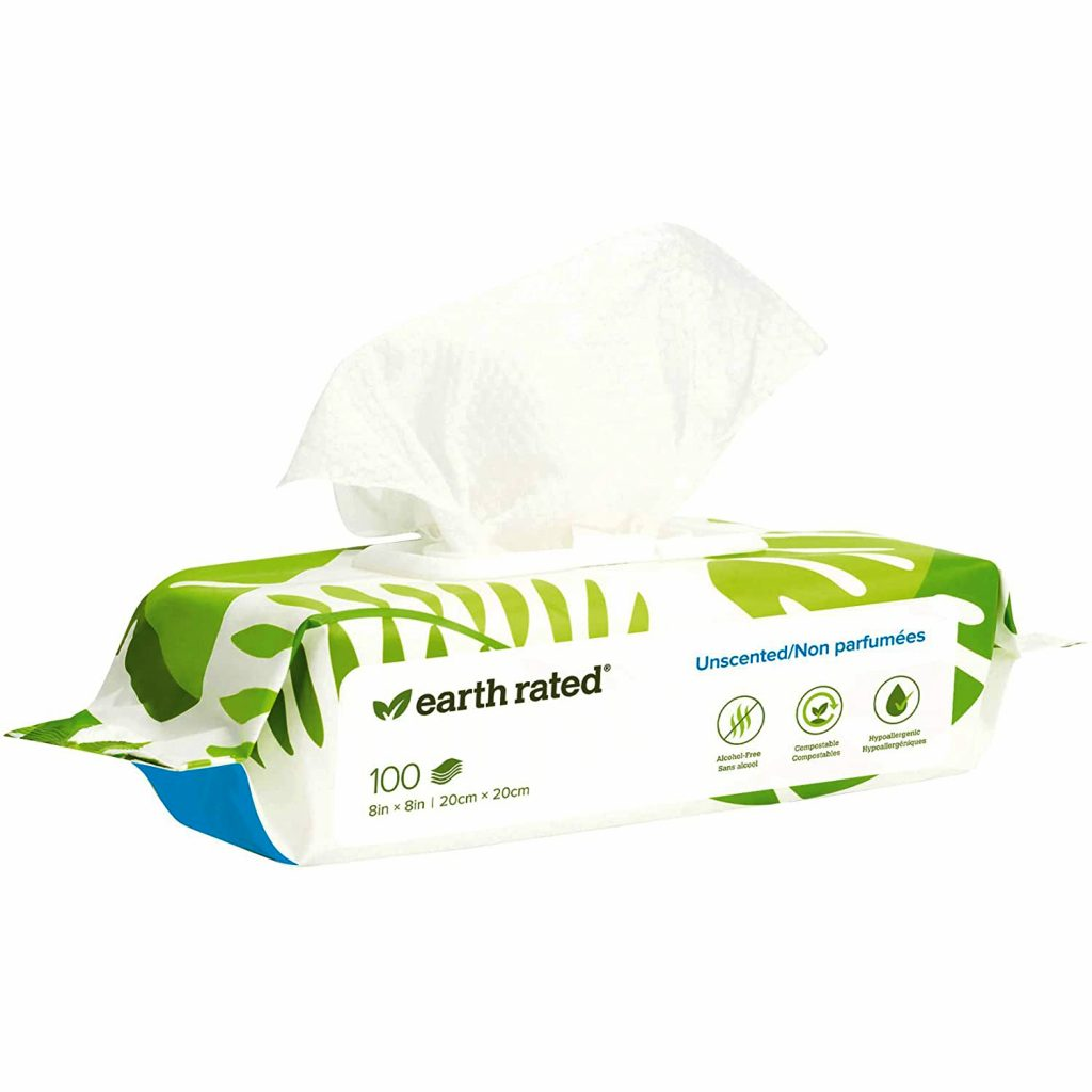 Earth Rated Plant-Based Dog Wipes via Amazon, Eco-Friendly Products for Dogs