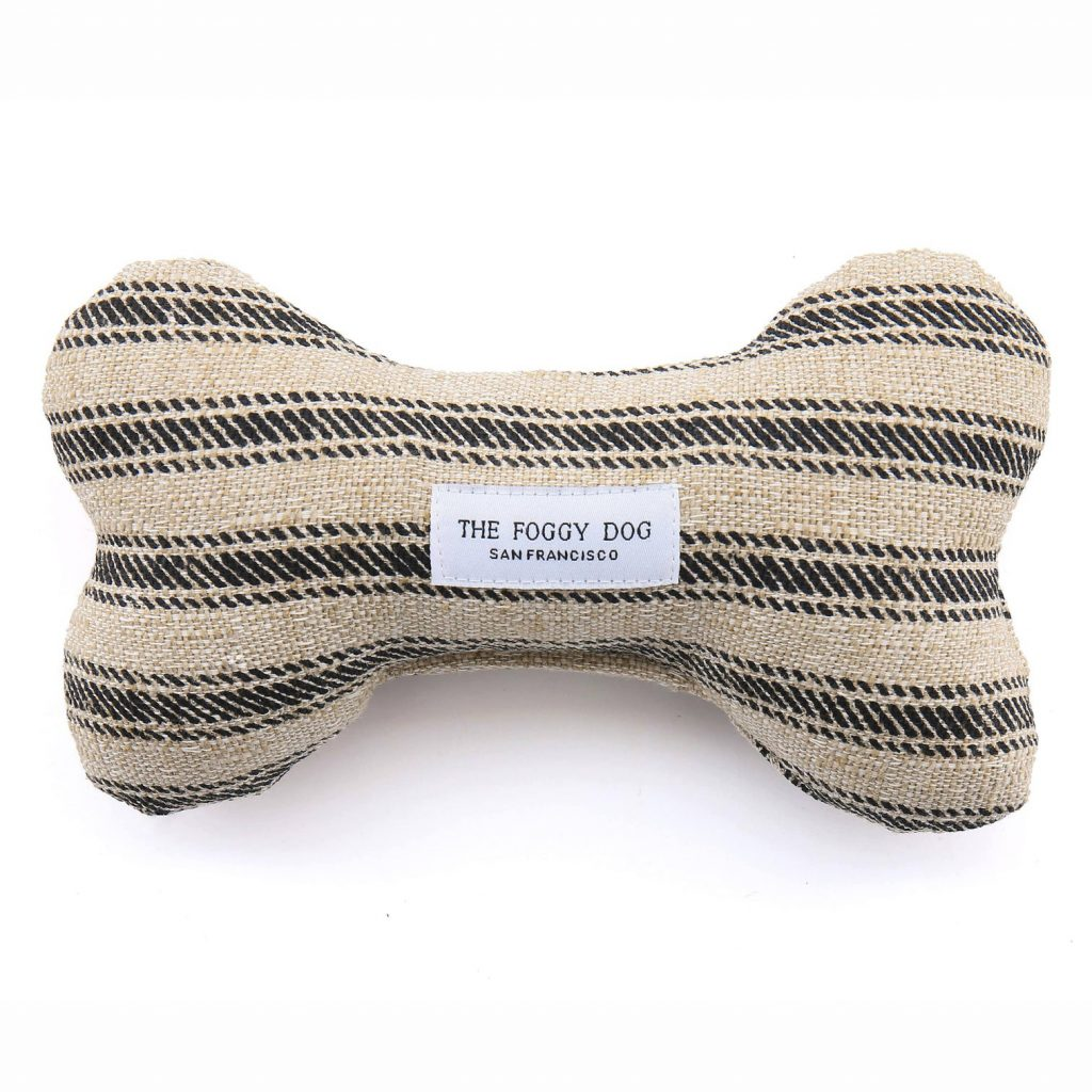 The Foggy Dog Bone Shape Ticking Stripe Dog Chew Toy, Eco-Friendly Products for Dogs