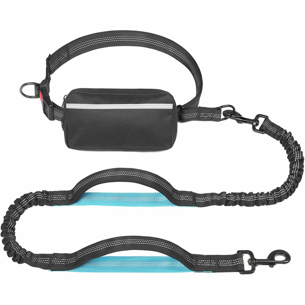 IYOSHOP Hands-Free Dog Leash with Pouch via Amazon
