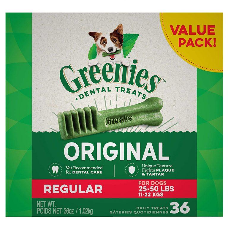 GREENIES DENTAL TREATS FOR DOGS - ORIGINAL via Amazon, Best Dog Teeth Cleaning Chews