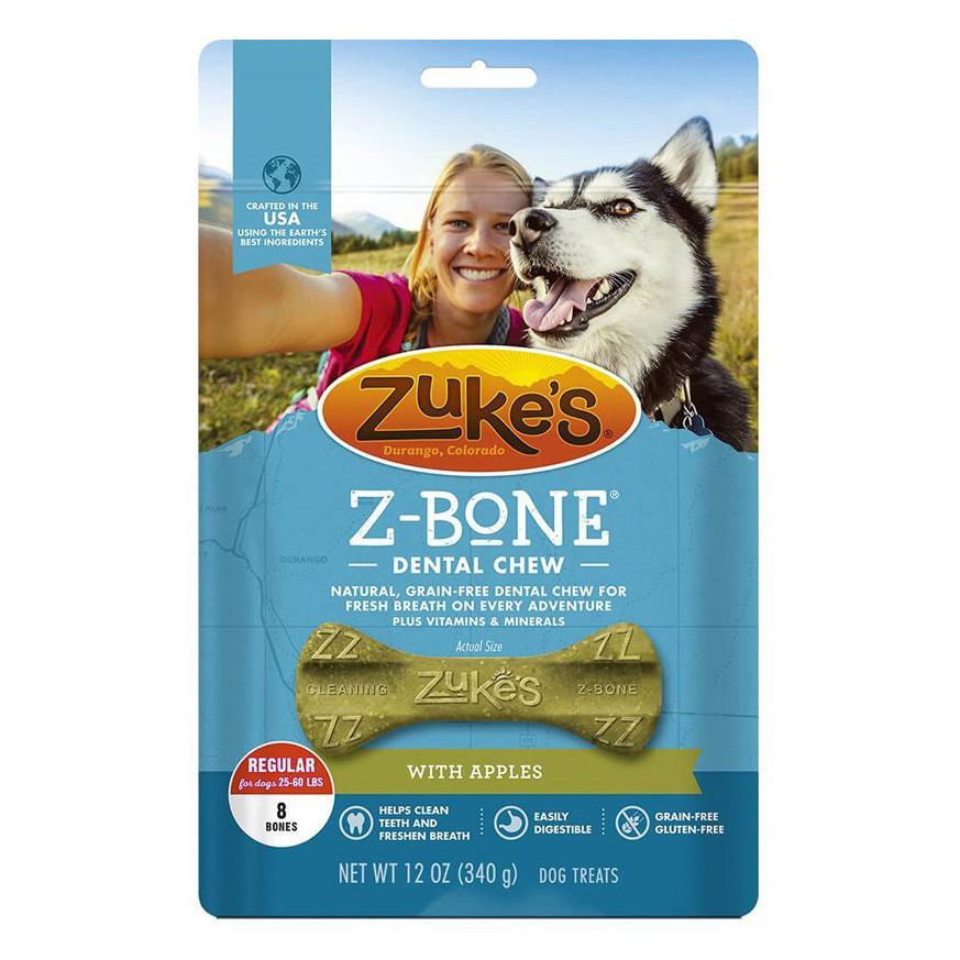 ZUKE'S Z-BONE DENTAL CHEWS FOR DOGS via Only Natural Pet