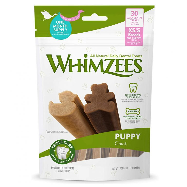 WHIMZEES ALL NATURAL DAILY DENTAL TREATS FOR PUPPIES via Amazon