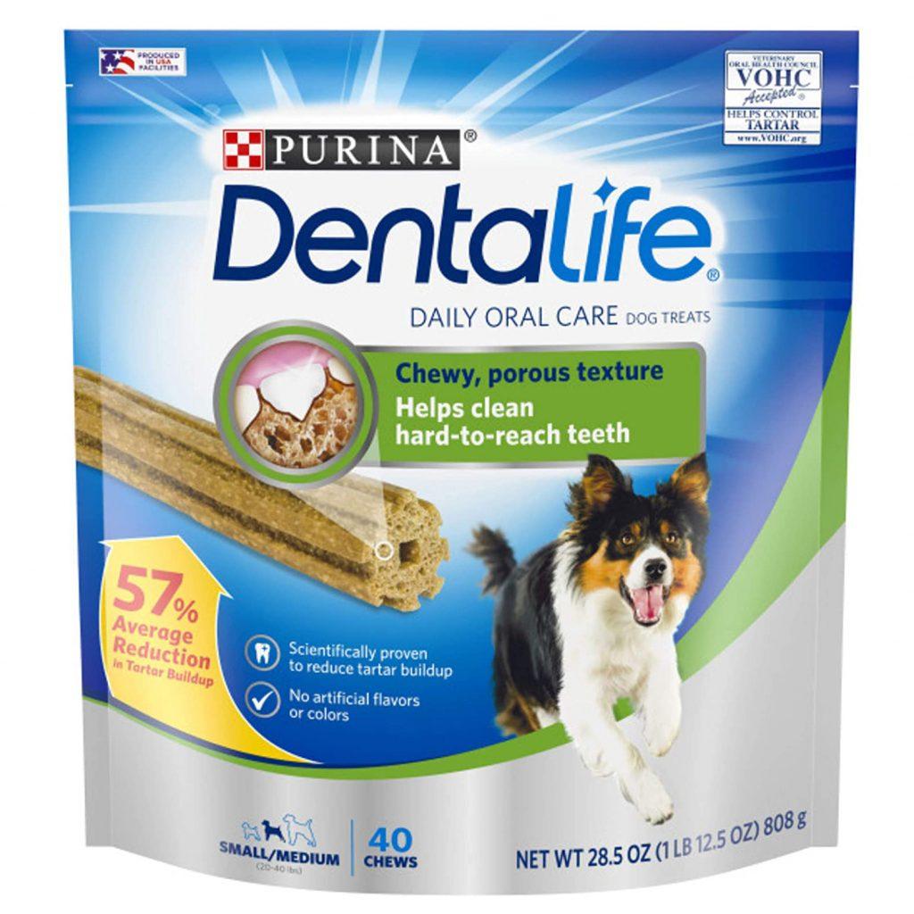PURINA DENTALIFE DAILY ORAL CARE DOG TREATS via Amazon, Best Dog Teeth Cleaning Chews