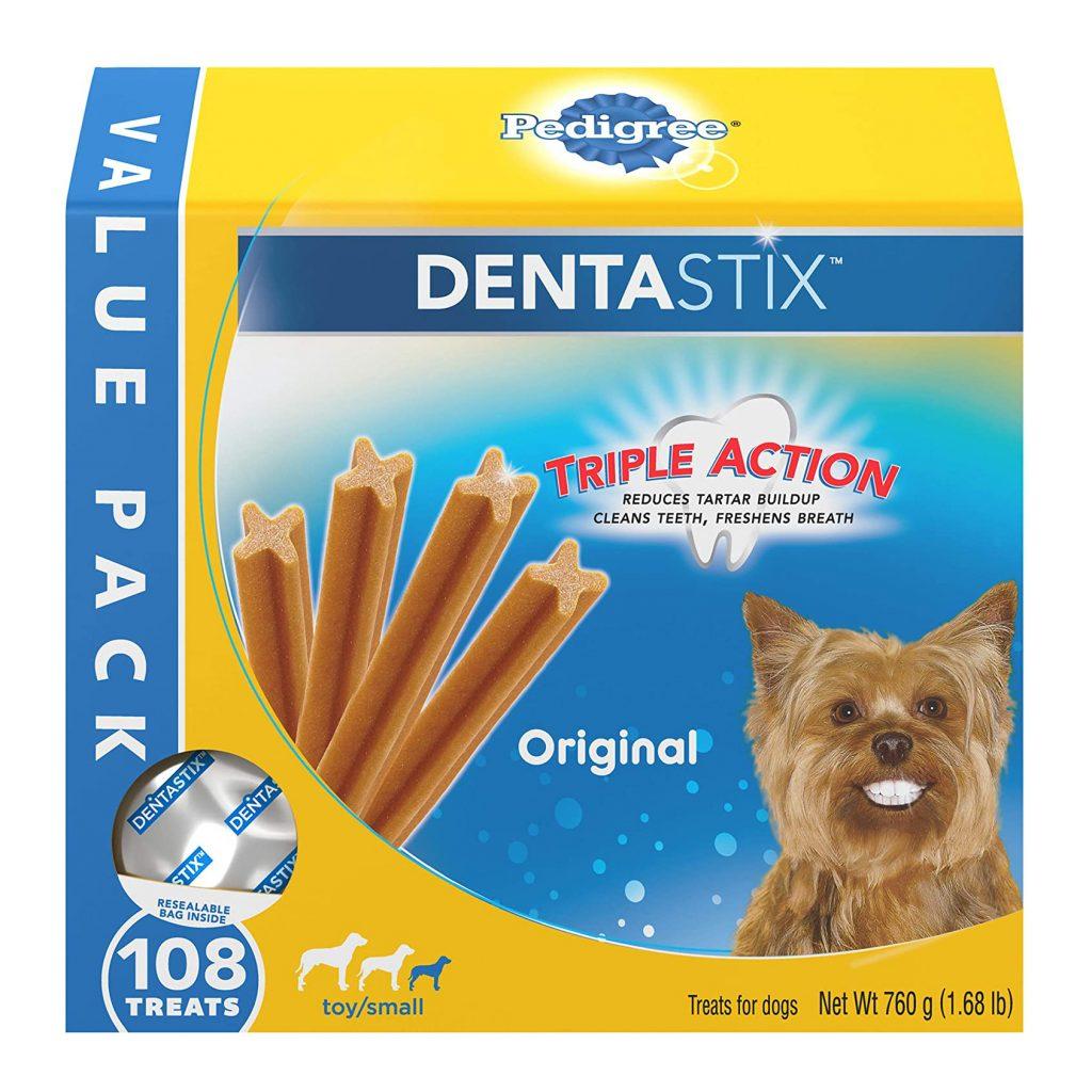 Pedigree DENTAStix for Dogs via Amazon, Best Dog Teeth Cleaning Chews