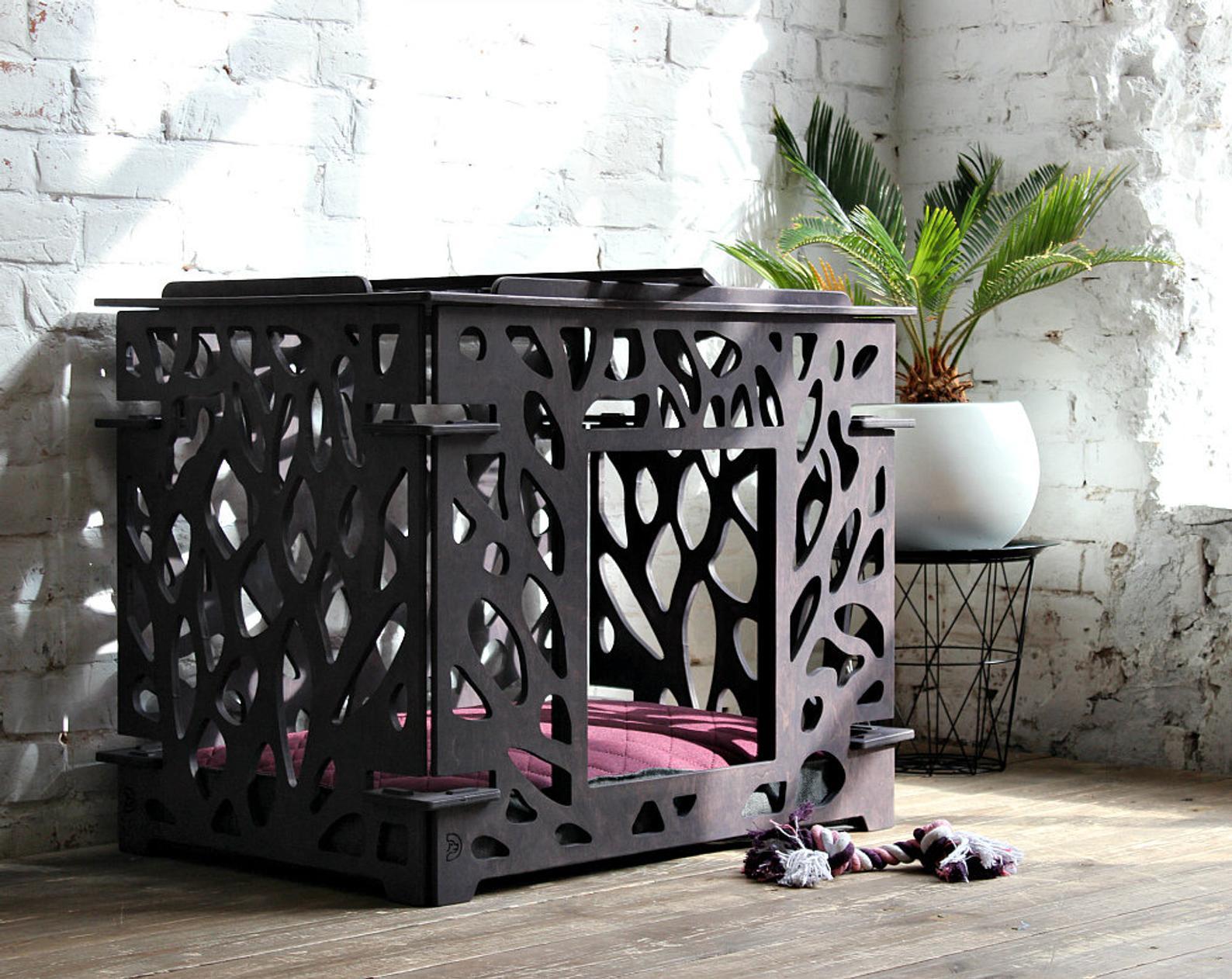 Modern Indoor Dog House via Original Dog Furniture (Etsy)