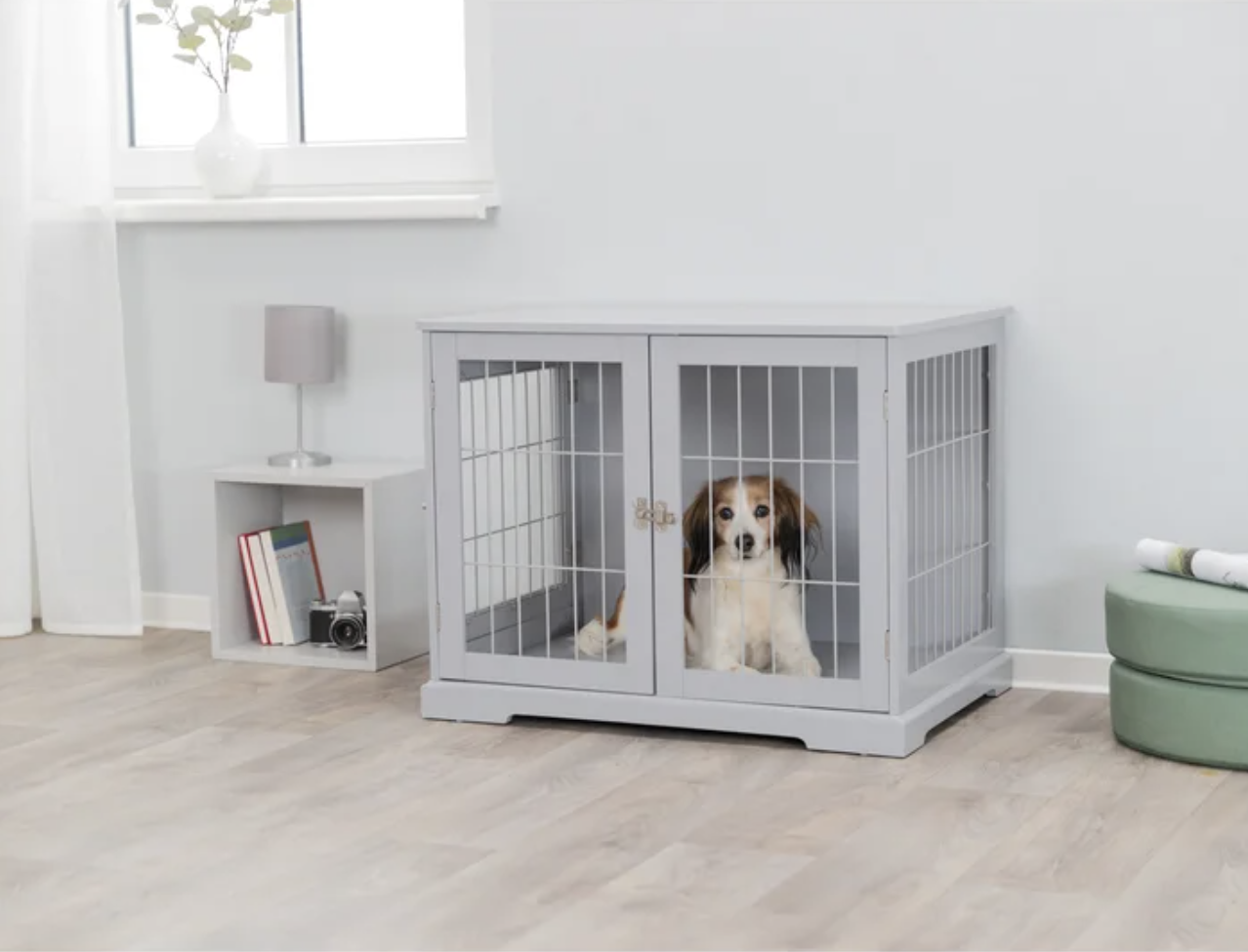 Tucker Murphy Pet 'Goetz' Wood and Wire Design Pet Crate via Wayfair