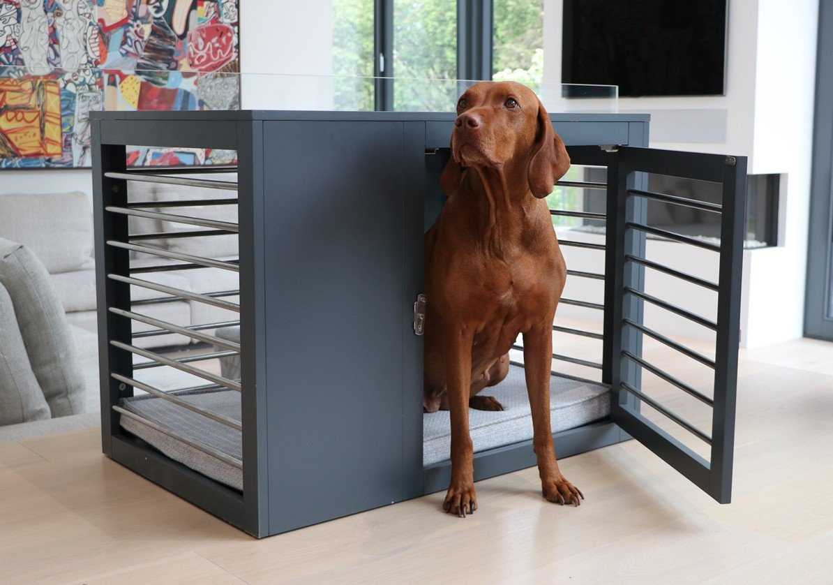 Moderno Dog Crate via Bowsers Pet Products (Houzz)