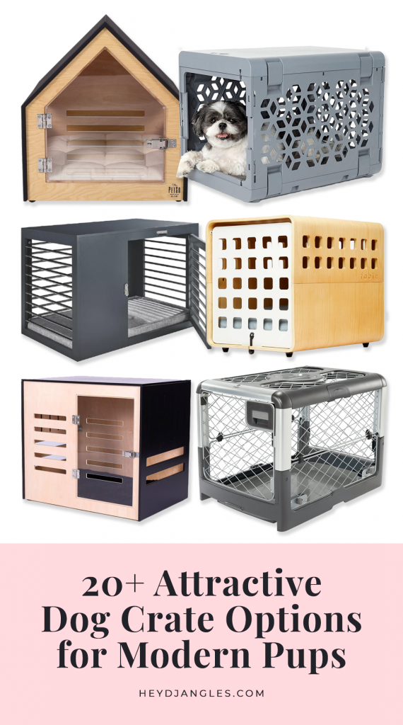 20+ Attractive Dog Crate Options for Modern Pups - feat. brands such as Archie & Oscar, PetSo, Fable, Diggs, KindTail, Moderno and more #dogcrate #moderndog #stylishdog