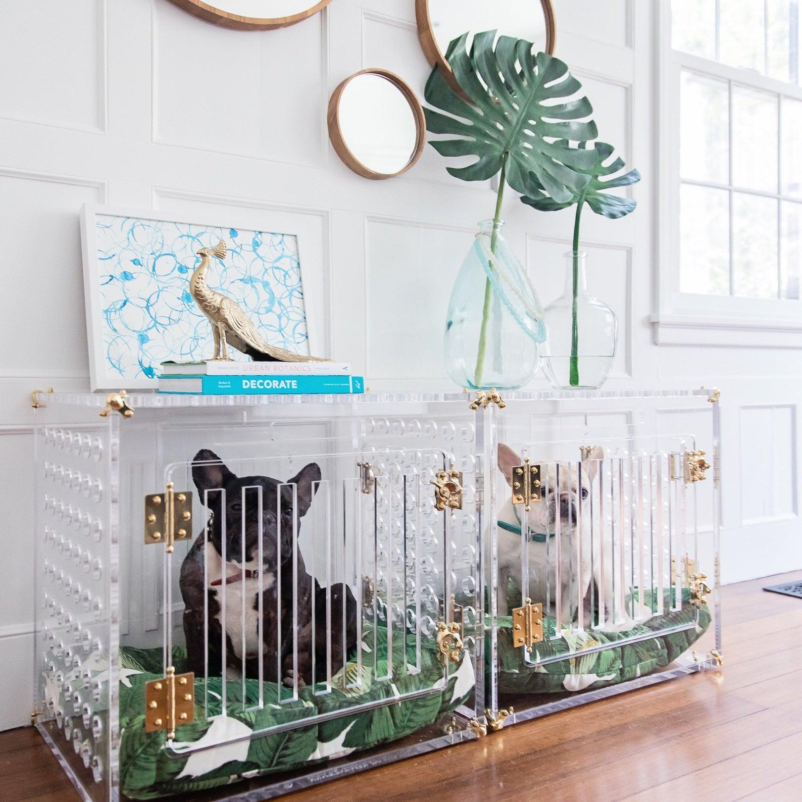 Medio Pretty Kennel for Dogs 11-24 lbs via Pretty Kennels (Etsy)
