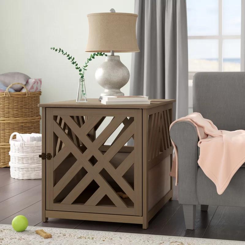 Archie & Oscar 'Menzel' Modern Lattice Pet Crate via Wayfair
