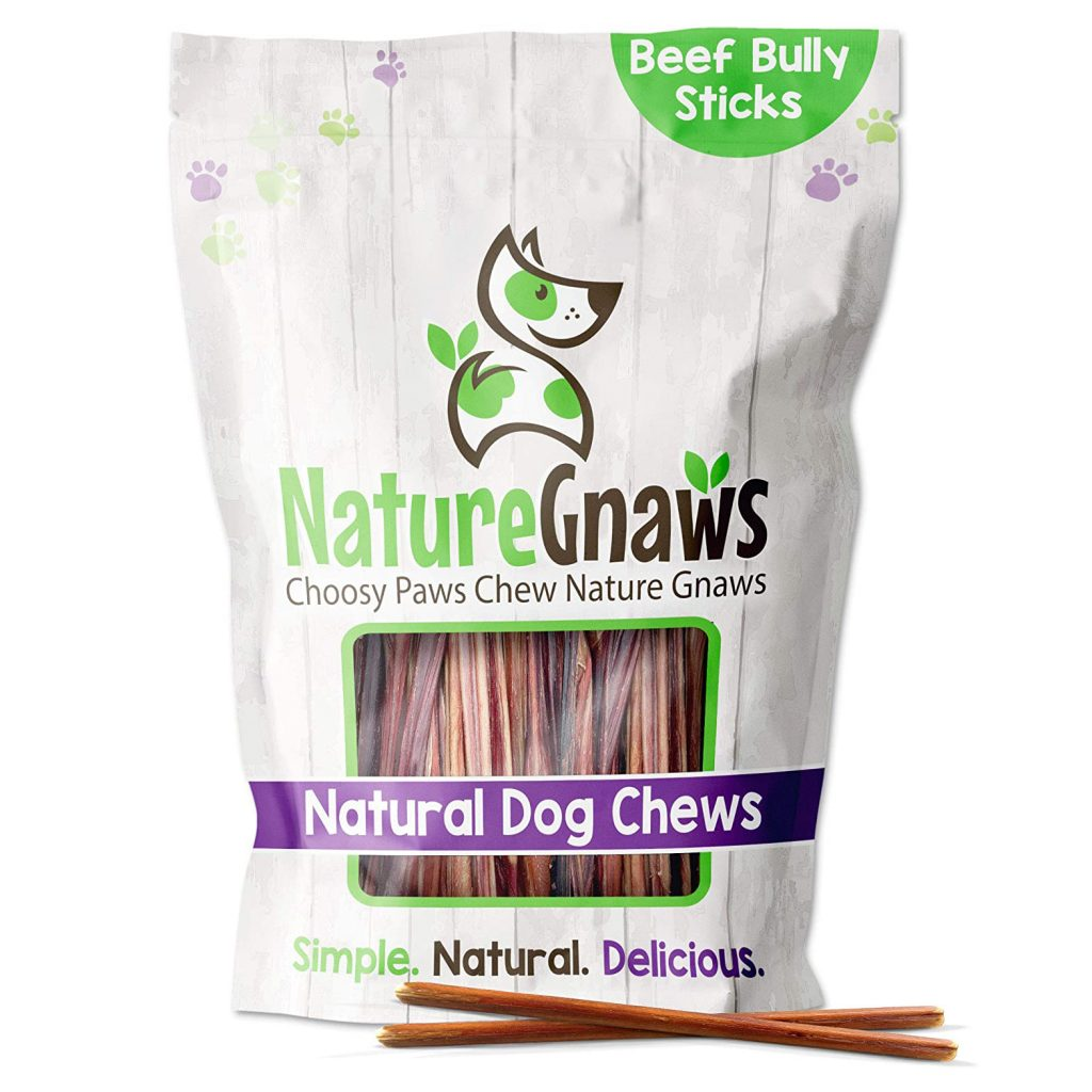 NATURE GNAWS EXTRA THIN BULLY STICKS via Amazon