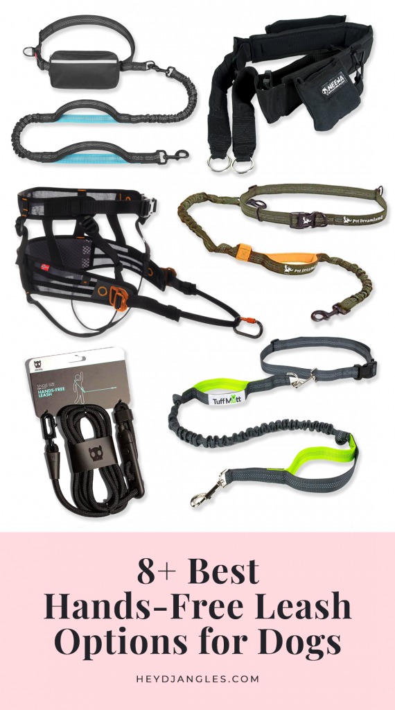 8 Best Hands-Free Leash Options for Dogs - featuring brands such as Tuff Mutt, Hurtta, Zee.Dog, Neewa, Non-Stop Dogwear and more. Hands-free dog leash, dog walking belts, running with your dog #doglover #handsfree #dogwalking