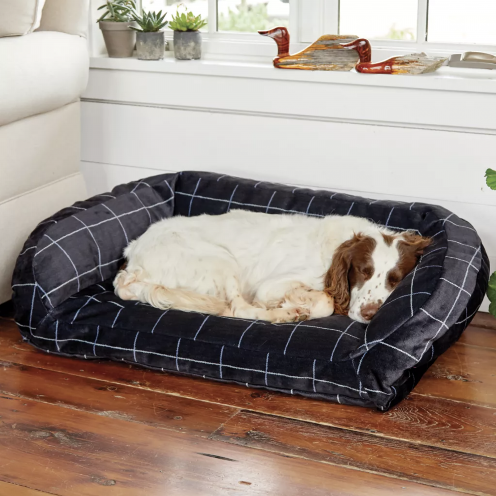 ORVIS TOUGHCHEW COMFORTFILL ECO BOLSTER DOG BED