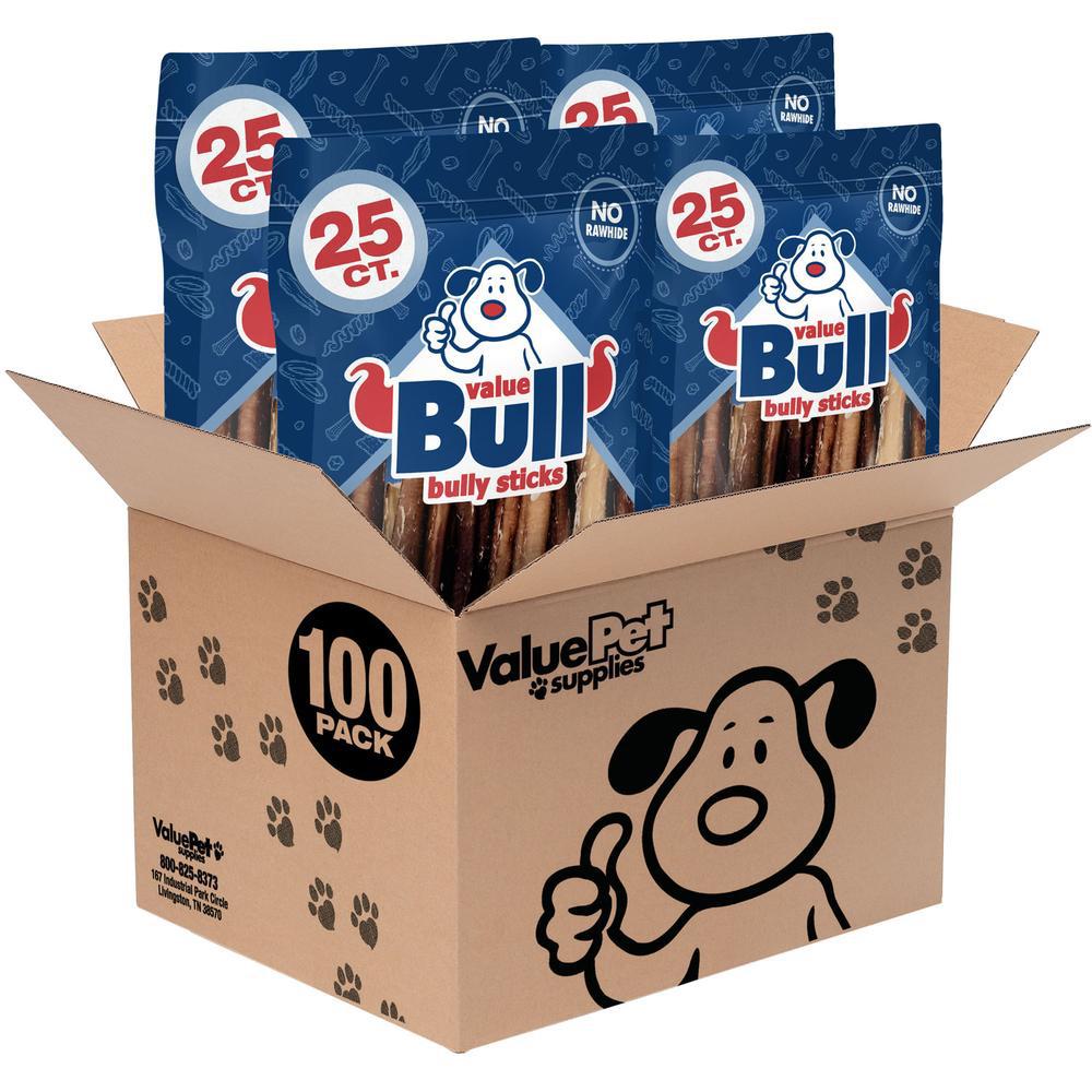 VALUEBULL USA ODOR-FREE BULLY STICKS via Value Pet Supplies