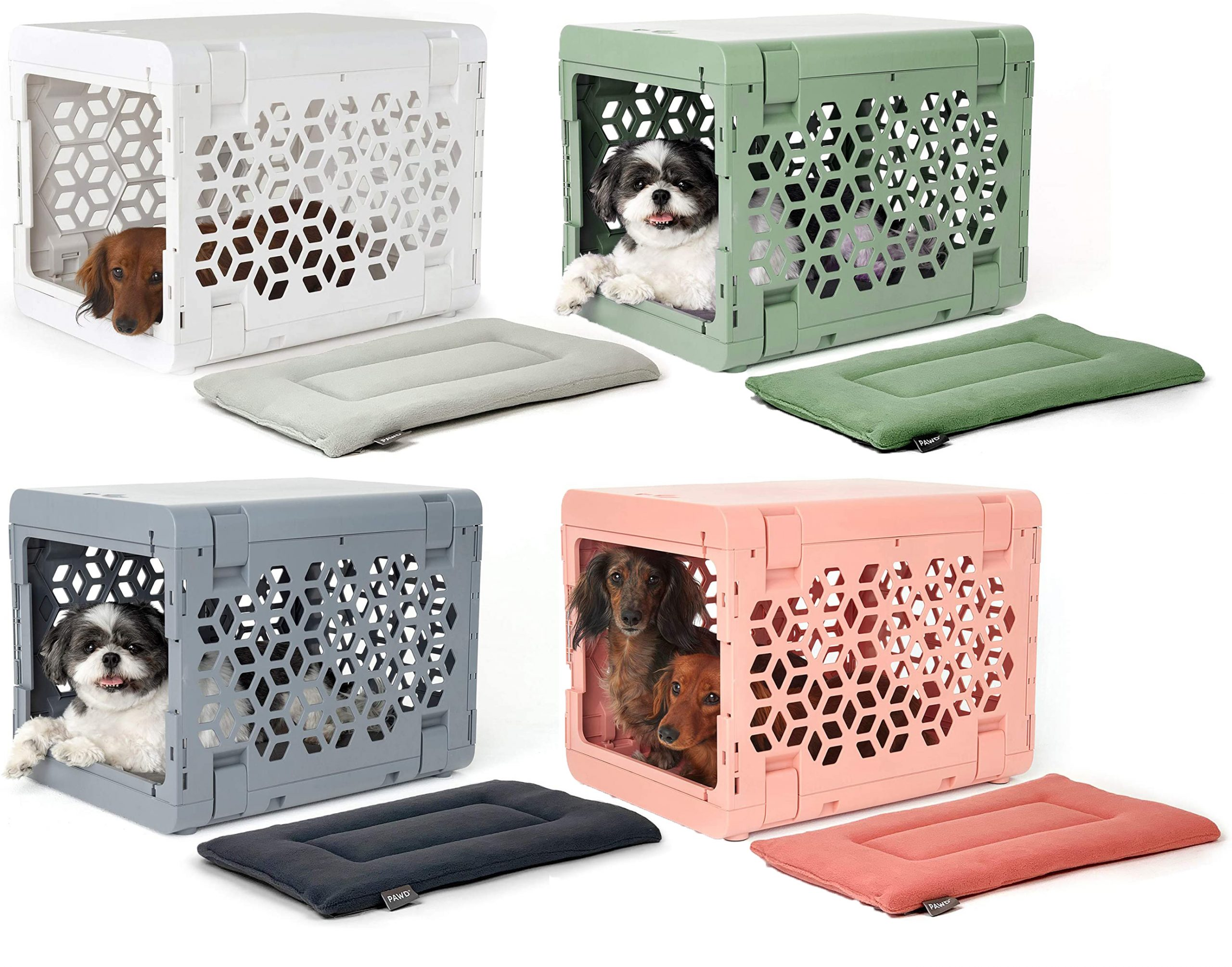 KindTail PAWD Fully Collapsible Dog Crate via Amazon