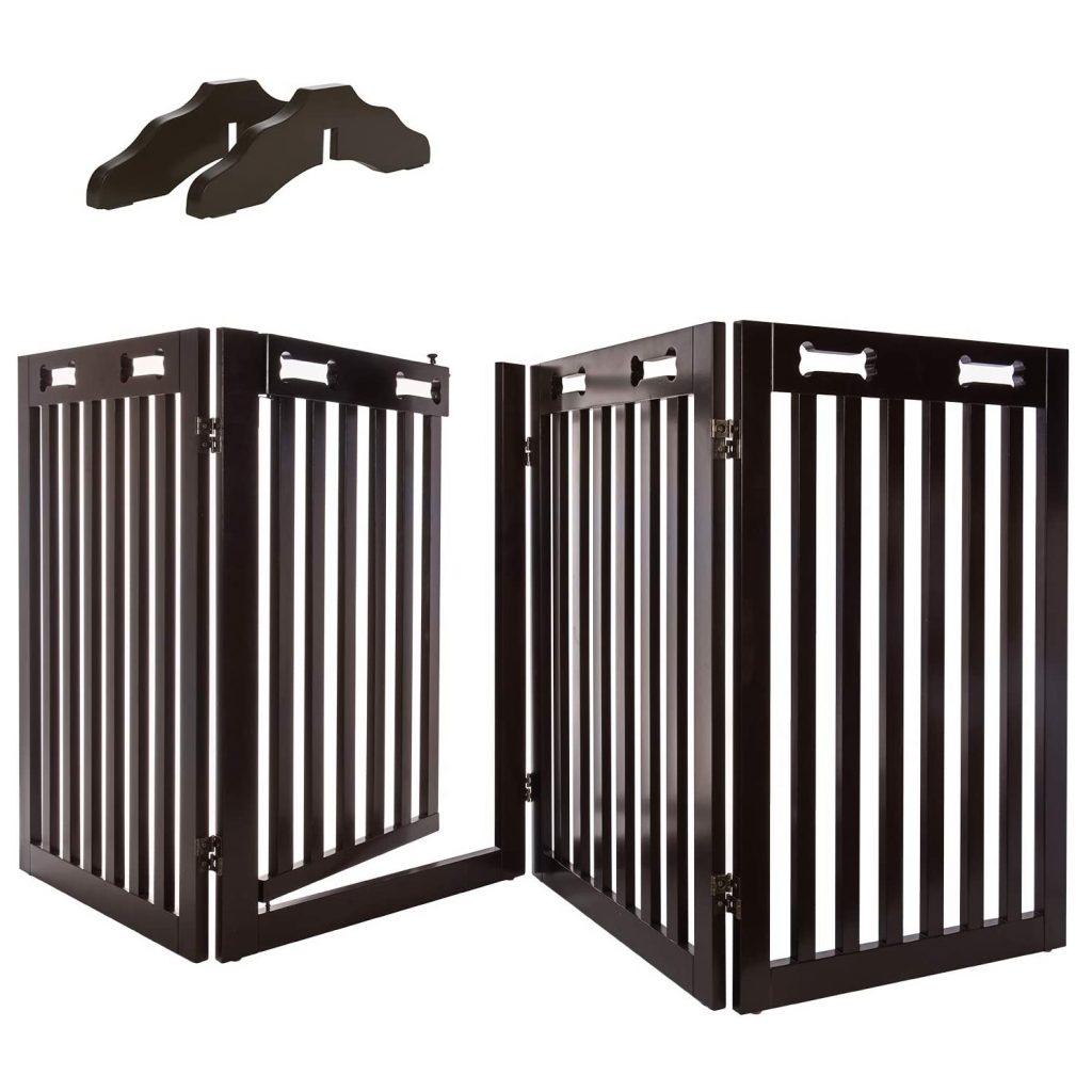ARF PETS Freestanding Wood Dog Gate via Amazon