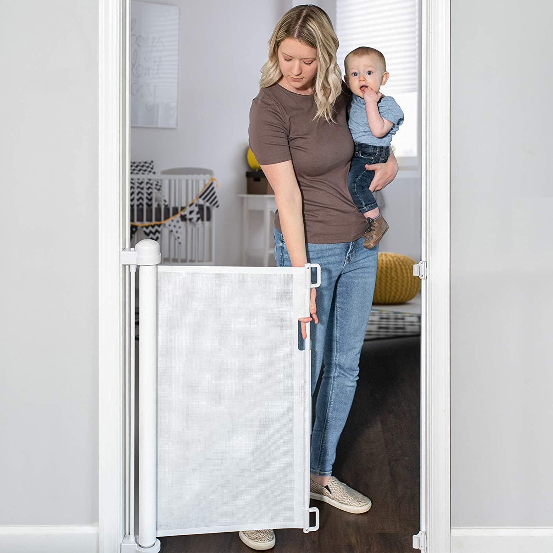 YOOFOR Retractable Mesh Baby Gate via Amazon
