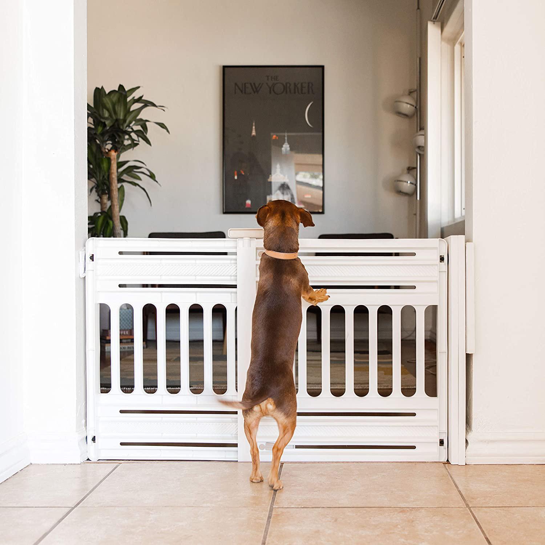 16 Best Expandable Gates for Dogs feat. IRIS USA Expandable Pet Barrier Gate via Amazon