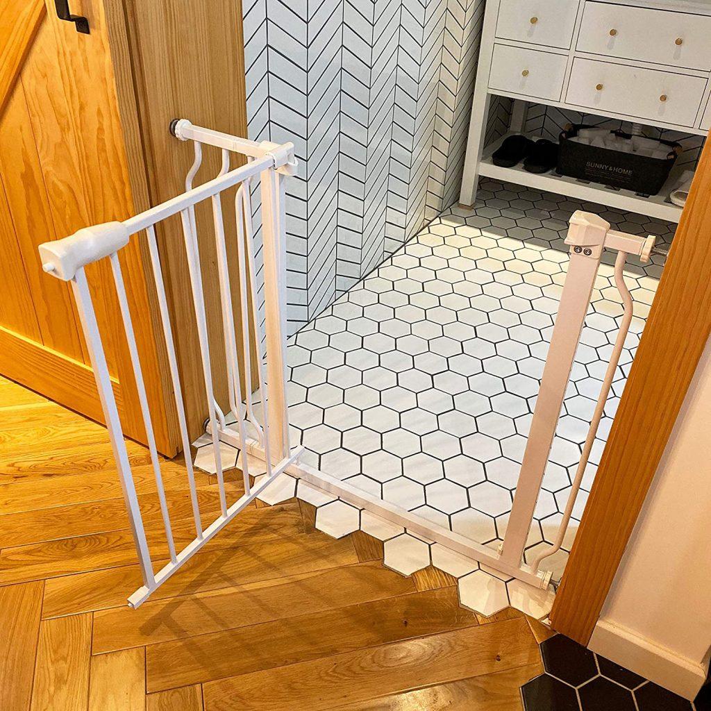 BALANCEFROM Easy Walk-Thru Safety Gate via Amazon