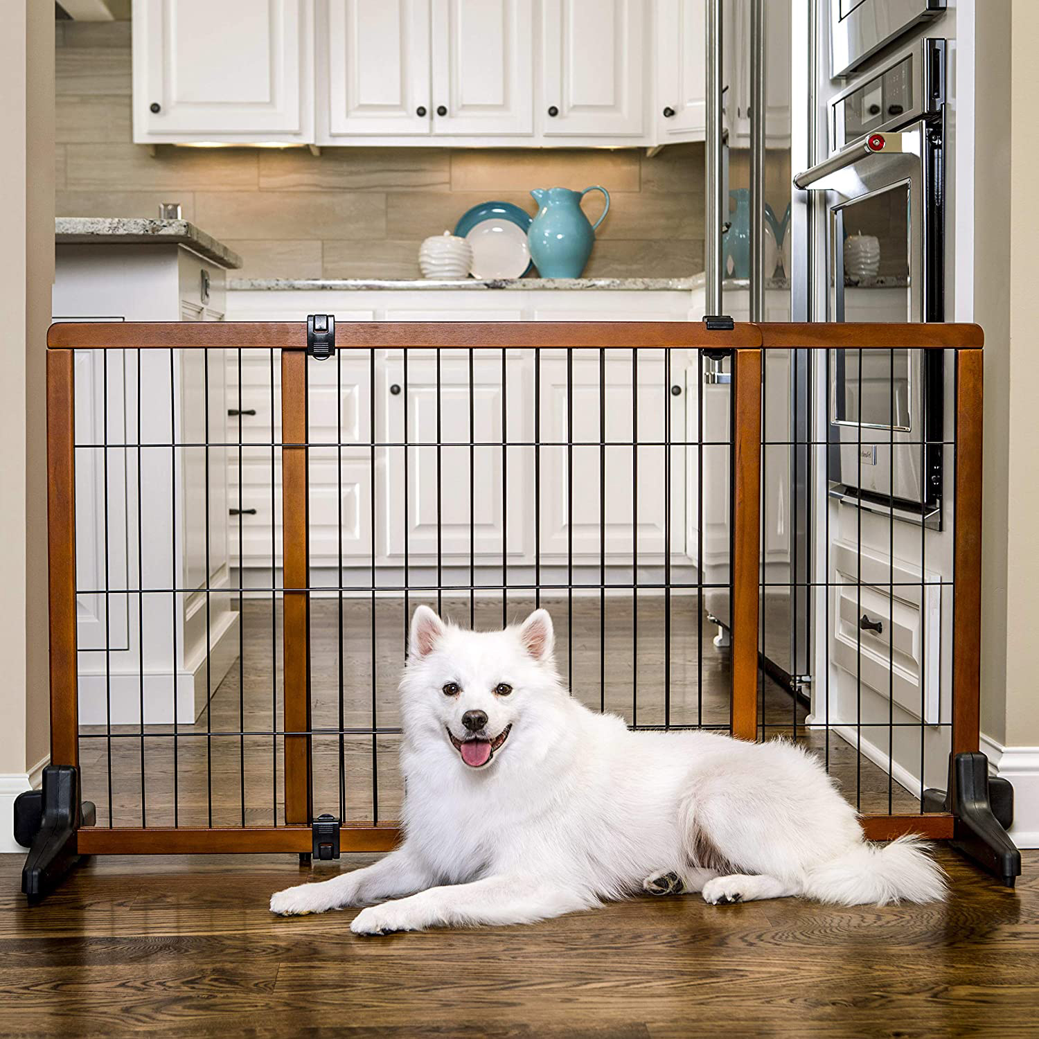 16 Best Expandable Gates for Dogs feat. CARLSON Freestanding Wood Pet Gate via Amazon