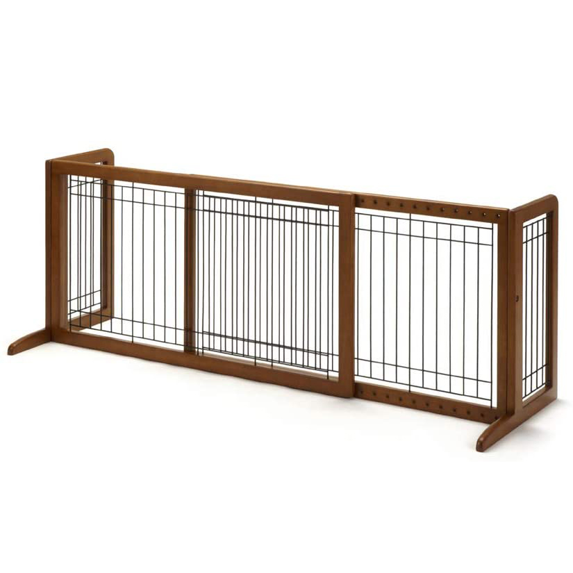 16 Best Expandable Gates for Dogs feat. RICHELL Wood Freestanding Pet Gate via Amazon