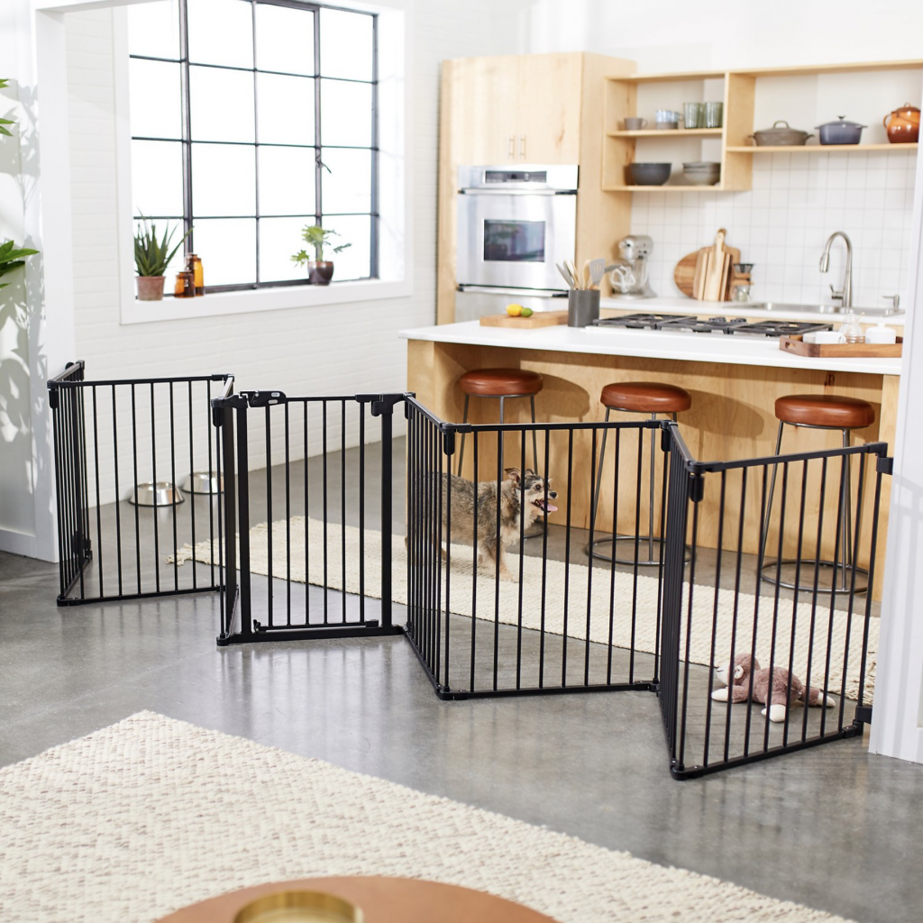 16 Best Expandable Gates for Dogs feat. FRISCO 8-Panel Configurable Gate and Playpen via Chewy