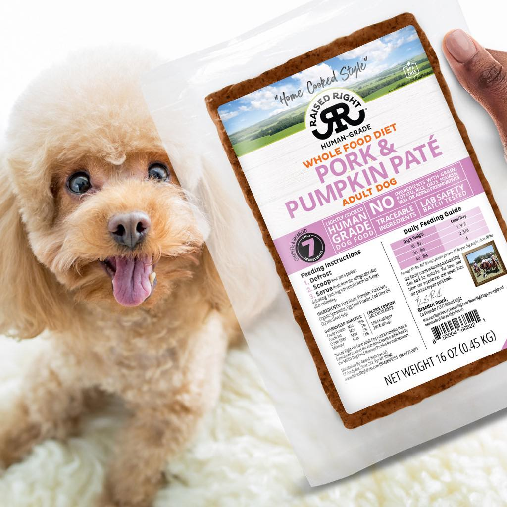 Raised Right human-grade, fresh whole food for dogs. Image via Raised Right.