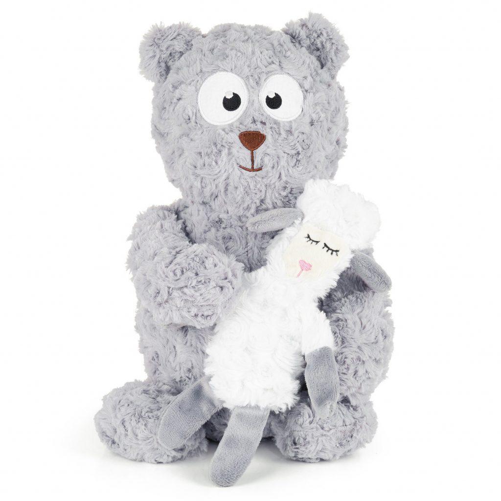 Soft Dog Toys for Cuddlers feat. BULLTUG Moony and Woola Cuddly Plush via Amazon