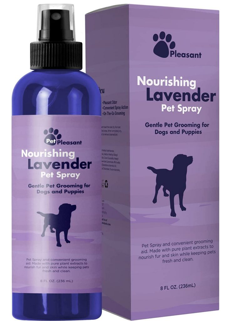 14 Best Dog Deodorizing Spray Options for Stinky Pups feat. HONEYDEW/PET PLEASANT Nourishing Lavender Pet Spray via Amazon