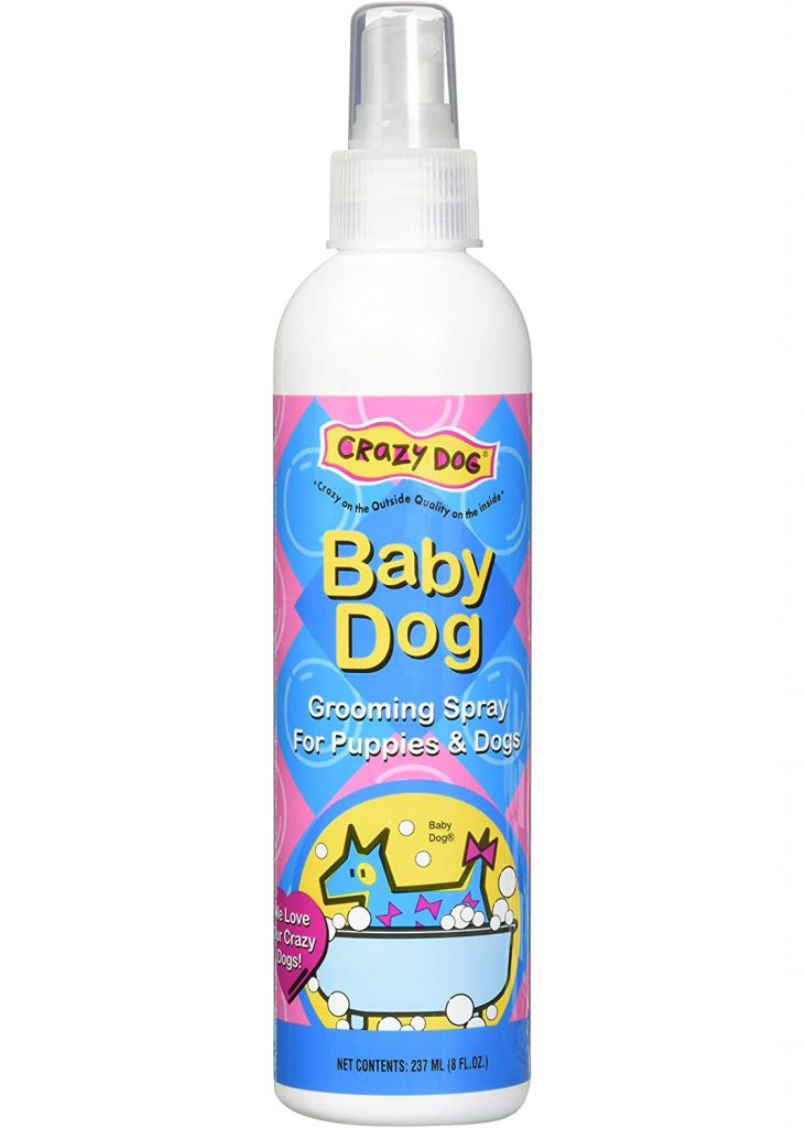 CRAZY DOG Baby Dog Grooming Spray for Puppies and Dogs via Amazon