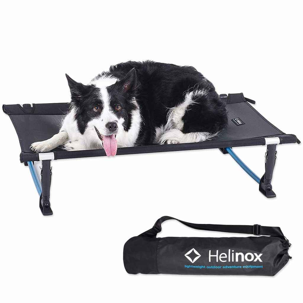 10 Best Folding Dog Bed Options for Camping and Travel feat. HELINOX Elevated Portable Dog Cot via Amazon