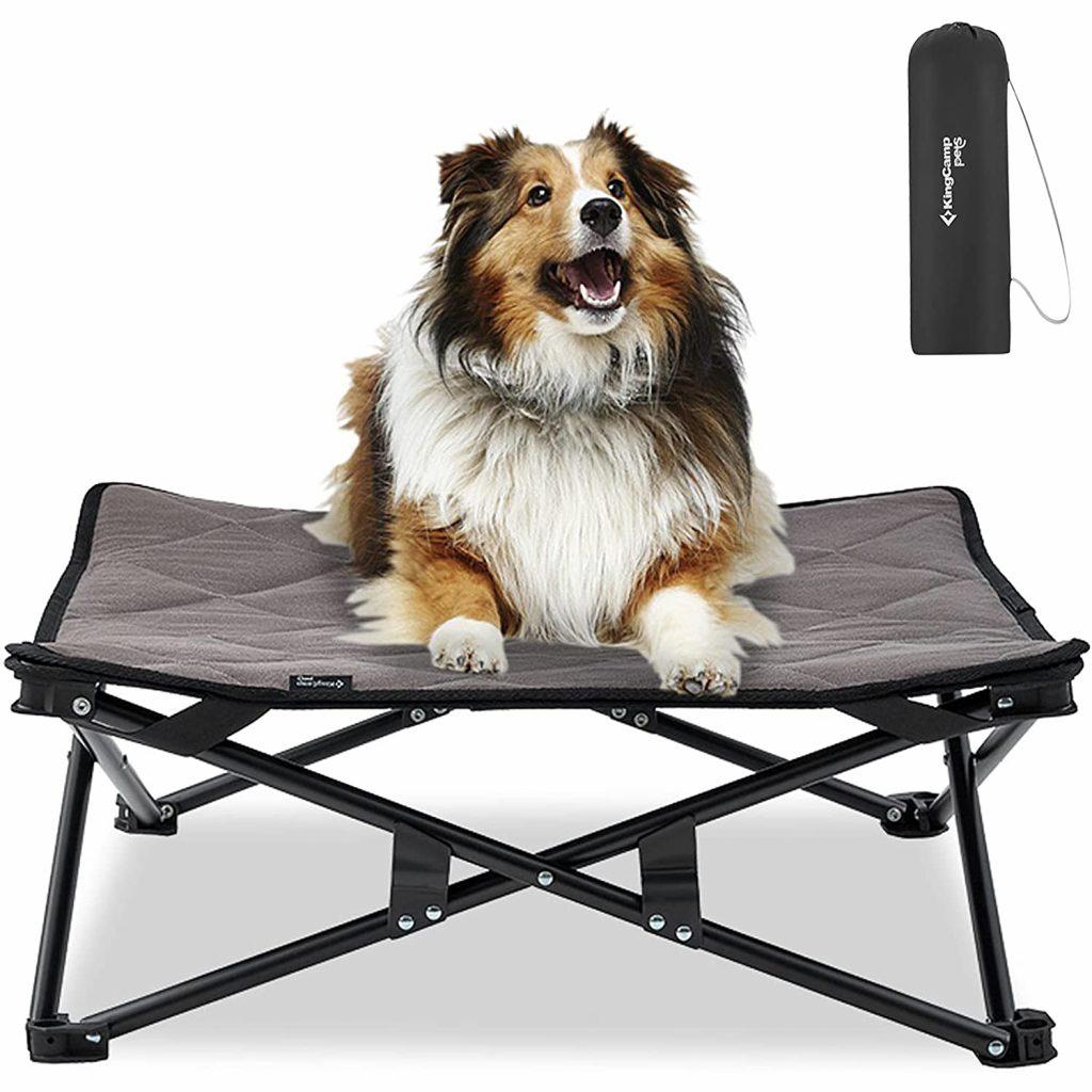 KINGCAMP Folding Elevated Dog Bed via Amazon