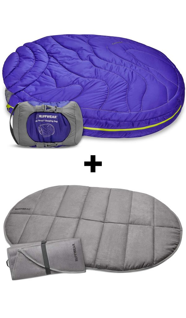 10 Best Folding Dog Bed Options for Camping and Travel feat. RUFFWEAR Highlands Dog Sleeping Bag via Amazon