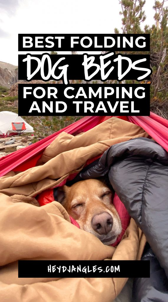 10 Best Folding Dog Bed Options for Camping and Travel - featuring popular travel and outdoor dog brands such as Kurgo, Spruce Pup, Helinox, Dog Helios, Chuckit!, Lightspeed Outdoors and more #campingwithdogs #dogbed #travelbed
